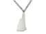Sterling Silver New Hampshire Silhouette Center Station 18 inch Necklace