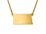 14k Yellow Gold Over Sterling Silver North Dakota Silhouette Center Station 18 inch Necklace