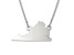 Sterling Silver Virginia Silhouette Center Station 18 inch Necklace