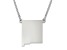 Sterling Silver New Mexico Silhouette Center Station 18 inch Necklace