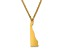 14k Yellow Gold Over Sterling Silver Delaware Silhouette Center Station 18 inch Necklace