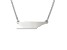 Sterling Silver Tennessee Silhouette Center Station 18 inch Necklace