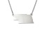 Sterling Silver Nebraska Silhouette Center Station 18 inch Necklace