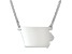 Sterling Silver Iowa Silhouette Center Station 18 inch Necklace
