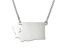 Sterling Silver Washington Silhouette Center Station 18 inch Necklace