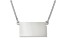Sterling Silver Kansas Silhouette Center Station 18 inch Necklace