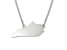 Sterling Silver Kentucky Silhouette Center Station 18 inch Necklace