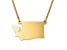 14k Yellow Gold Over Sterling Silver Washington Silhouette Center Station 18 inch Necklace