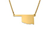 14k Yellow Gold Over Sterling Silver Oklahoma Silhouette Center Station 18 inch Necklace