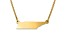 14k Yellow Gold Over Sterling Silver Tennessee Silhouette Center Station 18 inch Necklace