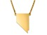 14k Yellow Gold Over Sterling Silver Nevada Silhouette Center Station 18 inch Necklace