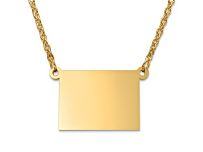 14k Yellow Gold Over Sterling Silver Colorado Silhouette Center Station 18 inch Necklace