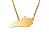 14k Gold Over Silver Kentucky Silhouette Center Station 18 inch Necklace