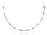 Sterling Silver Bead Station Necklace 18 inch