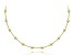 18k Yellow Gold Over Sterling Silver Bead Station Necklace 18 inch