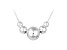 Sterling Silver Graduated Bead Necklace 18 inch