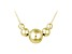 18k Yellow Gold Over Sterling Silver Graduated Bead Necklace 18 inch