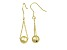 18k Yellow Gold Over Sterling Silver Bead Dangle Earrings