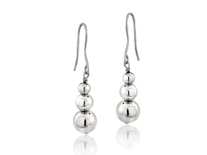 Sterling Silver Bead Dangle Earrings