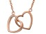 14k Rose Gold Over Silver Heart Necklace 18 inch