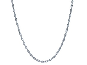 Rhodium Over Silver Singapore Link Chain 20 inch
