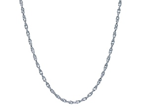 Rhodium Over Silver Singapore Link Chain 24 inch