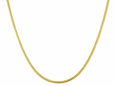 14k Yellow Gold Over Silver Snake Link Sliding Adjustable Necklace 18 inch