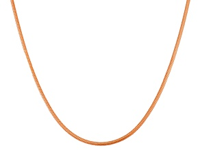 14k Rose Gold Over Silver Snake Link Sliding Adjustable Necklace 22 inch