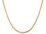 14k Rose Gold Over Silver Snake Link Sliding Adjustable Necklace 22 inch