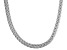 Rhodium Over Sterling Silver Wheat Link Chain Necklace 18 inch 4mm
