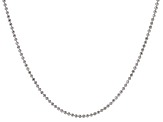 Sterling Silver Diamond Cut Bead Link Chain Necklace 24 inch