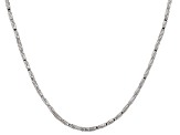 Sterling Silver Twisted Square Link Chain Necklace
