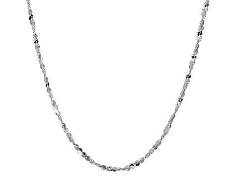 Sterling Silver Twisted Serpentine Link Chain Necklace 20 inch