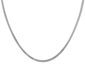 Sterling Silver Flat Herringbone Link Chain Necklace 20 inch 3.5mm