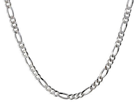 Sterling Silver Figaro 3 + 1 Link Chain Necklace 22 inch 6.5mm