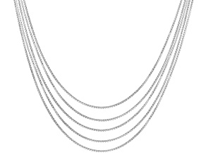 Sterling Silver Box Link Chain Set 18 inch .5mm