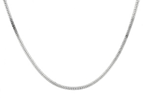 Sterling Silver Square Snake Link Chain Necklace 20 inch
