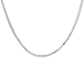 Sterling Silver Square Snake Link Chain Necklace 24 inch