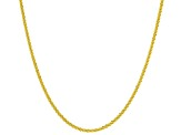 18k Yellow Gold Over Silver Criss Cross & Wheat Sliding Adjustable 24 Inch Chain Set