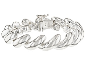 Sterling Silver San Marco Link Bracelet 8 inch 7.5mm