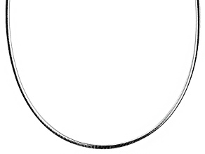 Sterling Silver Omega Link Chain Necklace 20 inch 3.5mm