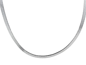 Sterling Silver Omega Link Chain Necklace 20 inch 6mm