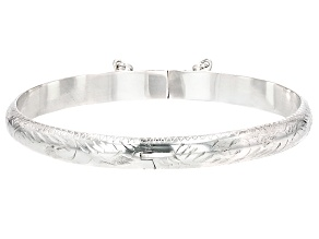 Sterling Silver Bangle Bracelet 7 inch 6.5mm
