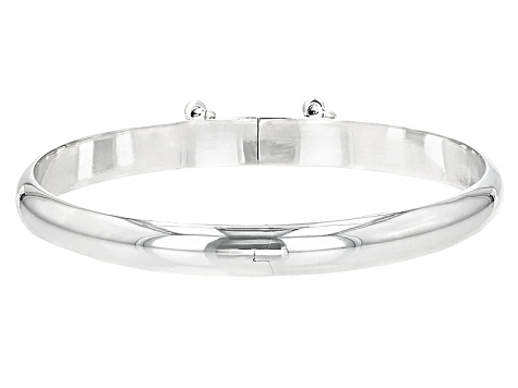 Sterling Silver Bangle Bracelet 7 inch 7mm