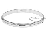 Sterling Silver Bangle Bracelet 8 inch 7mm