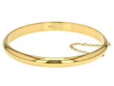 18k Yellow Gold Over Sterling Silver Polished Bangle Bracelet 7 inch 7mm