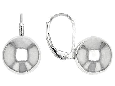 Sterling Silver Ball Dangle Earrings 11 5mm