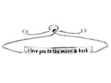 Sterling Silver Script Sliding Adjustable Bracelet