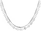 Sterling Silver Link Chain Necklace Set Of Two