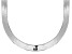 Rhodium Over Sterling Silver Herringbone Chain Necklace 20 inch 9mm